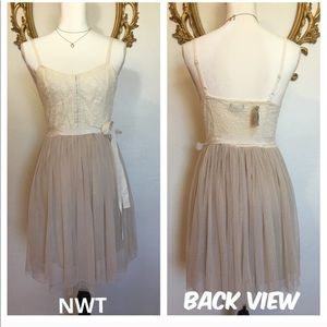 American Eagle white/cream Tulle/Lace Dress Size 4